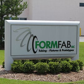 FormFab LLC About - tubing - fixtures & prototypes, low volume tube production, FormFab LLC logo