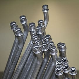 FormFab LLC About - low volume tube, bent tube, aluminum tubing, coolant tube, prototypes, production tube, HVAC assemblies, O-ring end forms